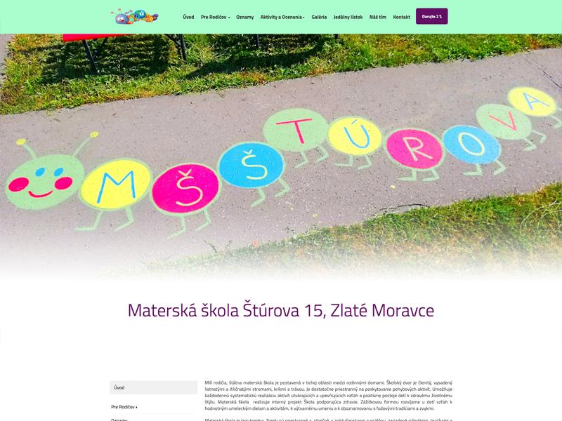 web Materská škola ZM